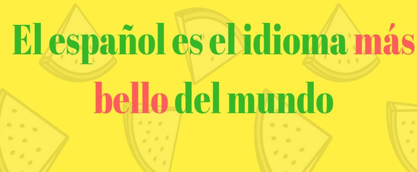 Relative superlative in Spanish