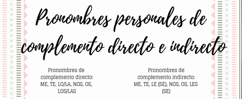 direct and indirect complement in spanish